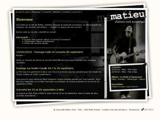 http://www.matieu.net est réalisé avec Cms Made Simple