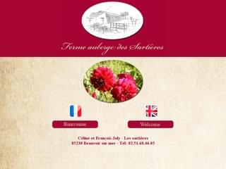 http://www.ferme-auberge-des-sartieres-vendee.fr est réalisé avec Cms Made Simple