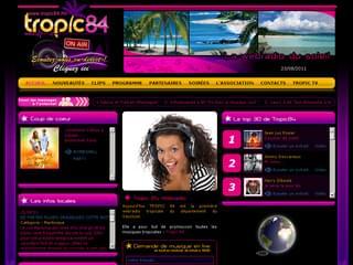 http://www.tropic84.fm est réalisé avec Cms Made Simple