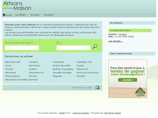 http://www.artisansmaison.fr est réalisé avec Cms Made Simple