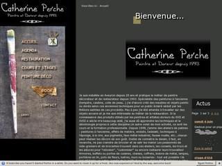 http://www.catherine-perche.com est réalisé avec Cms Made Simple