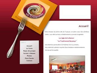 http://www.lecraquelin.com/ est réalisé avec Cms Made Simple