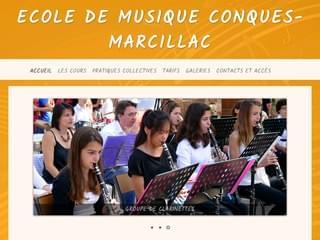 http://www.ecole-musique-conques-marcillac.com/ est réalisé avec Cms Made Simple