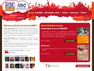 http://www.promojeunes-amo.be est réalisé avec Cms Made Simple