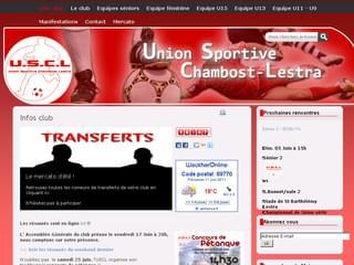 http://www.usclfoot.fr est réalisé avec Cms Made Simple