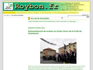 http://roybon.fr/cms_roybon/ est réalisé avec Cms Made Simple