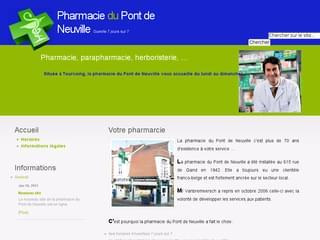 http://pharmacie-du-pont-de-neuville.com/ est réalisé avec Cms Made Simple