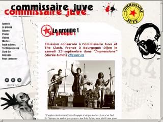 http://www.commissairejuve.com/ est réalisé avec Cms Made Simple