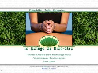http://www.lerefugedubienetre.com est réalisé avec Cms Made Simple
