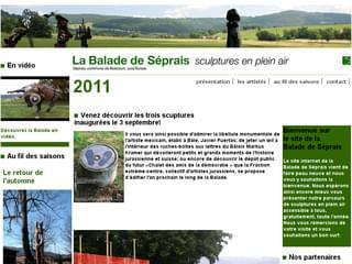 http://www.balade-seprais.ch est réalisé avec Cms Made Simple