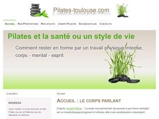 http://pilates-toulouse.com/ est réalisé avec Cms Made Simple