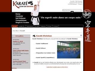 http://www.karate-bavans.fr/ est réalisé avec Cms Made Simple