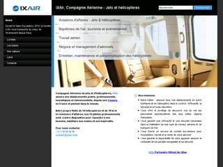 http://www.ixair.com/fr/ est réalisé avec Cms Made Simple