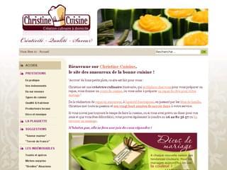 http://www.christine-cuisine.fr est réalisé avec Cms Made Simple