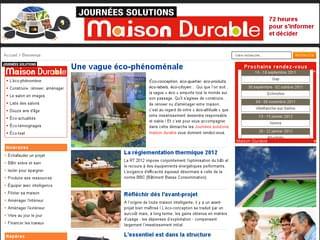 http://www.solutions-maison-durable.fr est réalisé avec Cms Made Simple