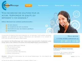 http://phonemessage.fr/ est réalisé avec Cms Made Simple