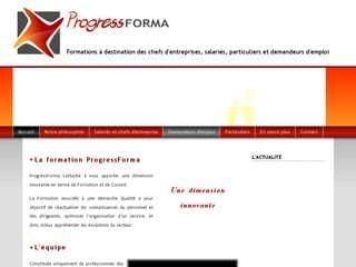 http://www.progressforma.com/ est réalisé avec Cms Made Simple
