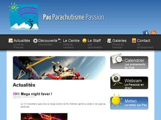 http://www.pau-parachutisme-passion.fr/ est réalisé avec Cms Made Simple