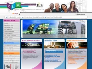 http://www.cla.univ-fcomte.fr/ est réalisé avec Cms Made Simple