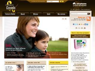 http://www.arkopharma.fr/espaces-conseils/ est réalisé avec Cms Made Simple