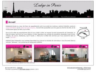 http://www.lodge-paris.fr est réalisé avec Cms Made Simple