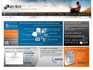 http://www.airelibre.fr est réalisé avec Cms Made Simple