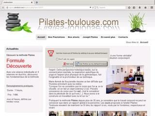 http://www.pilates-toulouse.com/ est réalisé avec Cms Made Simple