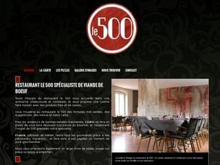 http://www.restaurantle500.fr/ est réalisé avec Cms Made Simple
