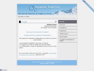http://www.aquabella-traduction.com/fr/ est réalisé avec Cms Made Simple