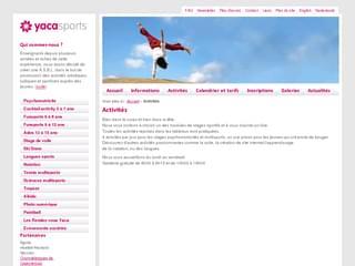 http://yacasports.be/fr/activites/ est réalisé avec Cms Made Simple