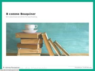 B comme Bouquiner